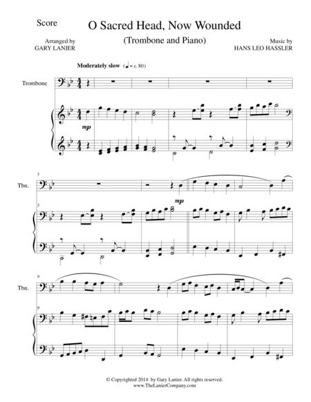 O SACRED HEAD, NOW WOUNDED (Trombone/Piano and Trombone Part)