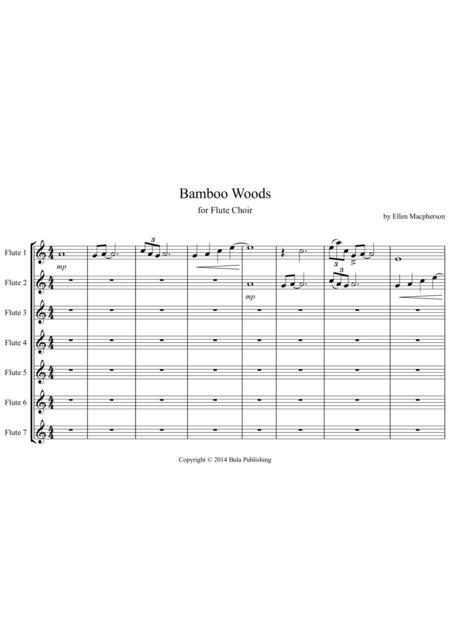 Bamboo Woods for Flute Choir