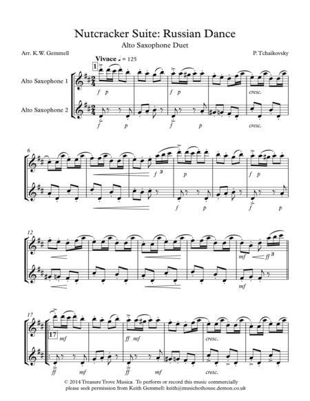 Nutcracker Suite: Russian Dance - Alto & Saxophone Duet