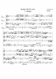 Sonata for 2 alto recorders, oboe and basso continuo, Opus 22, no.6, A Minor