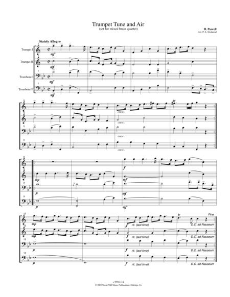 Trumpet Tune and Air by Purcell (arranged for brass quartet)