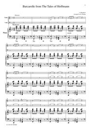 Barcarolle from The Tales of Hoffmann, for piano trio, PO001