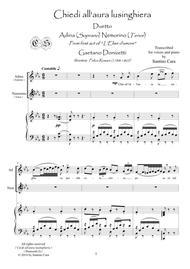 Donizetti Lelisir Damore Chiedi Allaura Lusinghiera Act1