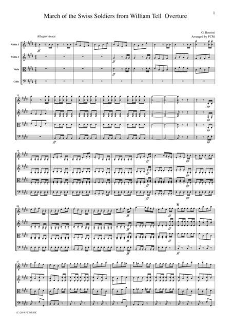 Rossini March of the Swiss Soldiers from William Tell Overture, CR102