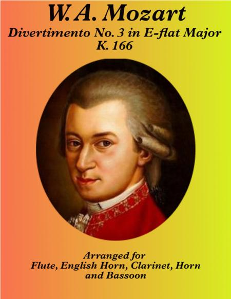 Mozart: Divertimento No. 3 in Eb Major, K. 166 for Woodwind Quintet (English Horn)