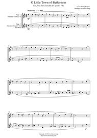O Little Town of Bethlehem (for flute duet, suitable for grades 2-6)