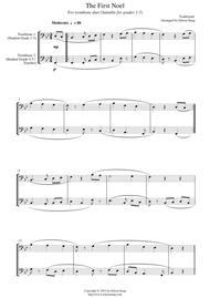 The First Noel (for trombone duet (treble clef), suitable for grades 1-5)