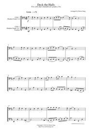 Deck the Halls (for cello duet, suitable for grades 2-6)