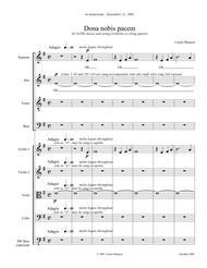 Dona Nobis Pacem (SATB - full score)