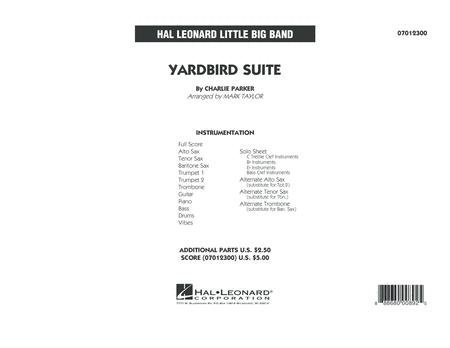 Yardbird Suite - Full Score