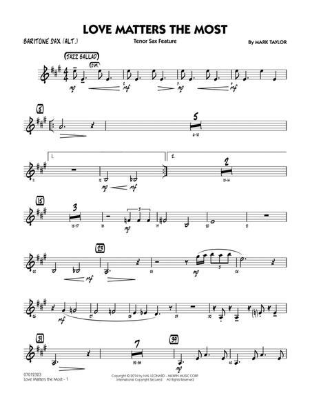 Love Matters the Most - Baritone Sax (Alt.)