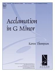 Acclamation in G Minor