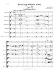 Gustav Holst - Two Songs Without Words set for Clarinet Choir