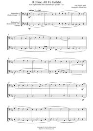 O Come, All Ye Faithful (for euphonium duet (bass clef, 3 or 4 valved), suitable for grades 1-5)