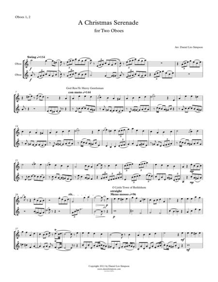 Christmas Serenade for Two Oboes (A Christmas medley of songs)
