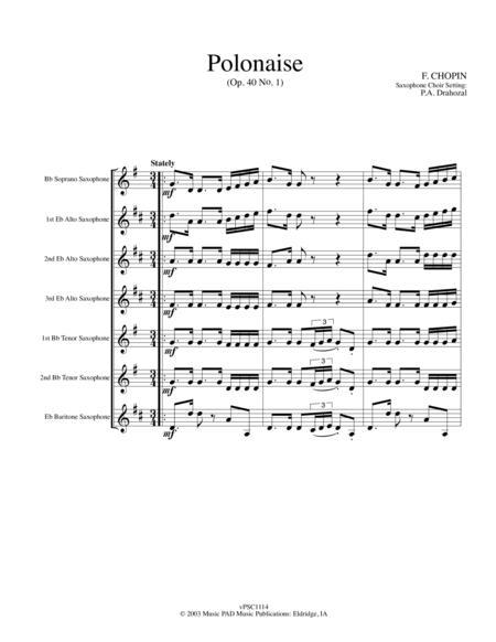 Polonaise (Op. 40 - #1) by Chopin (for saxophone choir)
