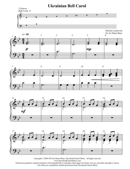 Download Ukrainian Bell Carol Handbells Or Handchimes 2 Octaves