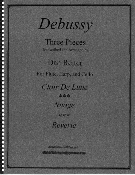 Debussy Three Pieces for flute, harp and cello trio. concerts, wedding, relaxation music, sacred.