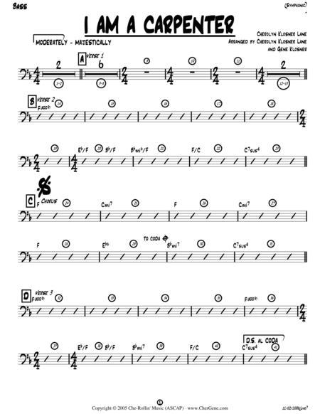 Download I Am A Carpenter (Joseph\'s Song) [Bass Guitar Chords] Sheet ...