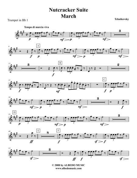 Tchaikovsky Nutcracker Suite - Trumpet in Bb 1 (Transposed Part), Op.71a
