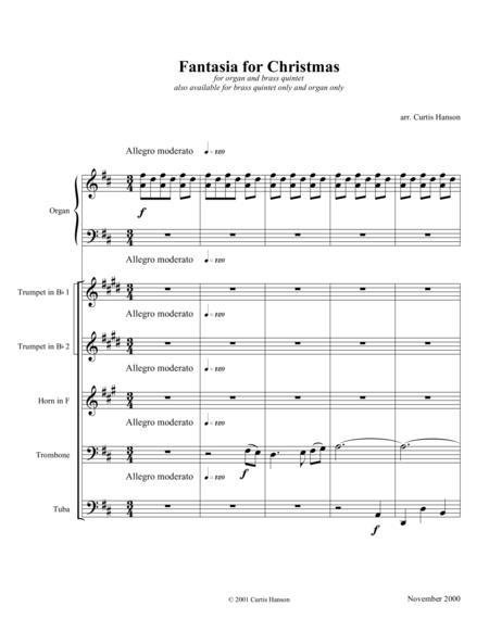 Fantasia for Christmas (brass & organ)