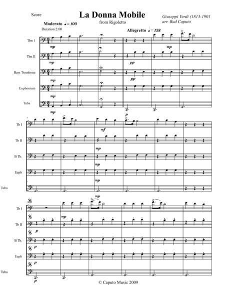 Low Brass-Three Famous Opera Arias-Score