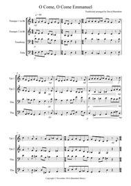 O Come, O Come Emmanuel for Brass Quartet