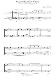 Away in a Manger (Cradle Song) (for trombone duet, suitable for grades 2-6)