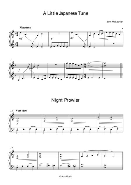 A Little Japanese Tune, and Night Prowler