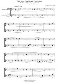God Rest You Merry, Gentlemen (for flute duet, suitable for grades 1-5)