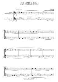Jolly Old St. Nicholas (for oboe duet, suitable for grades 1-5)