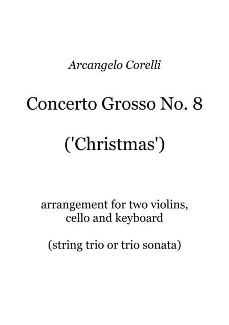 Corelli - Christmas Concerto - arranged as a string trio sonata