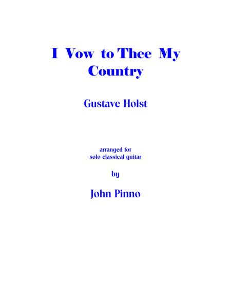 I Vow to Thee My Country (solo classical guitar)
