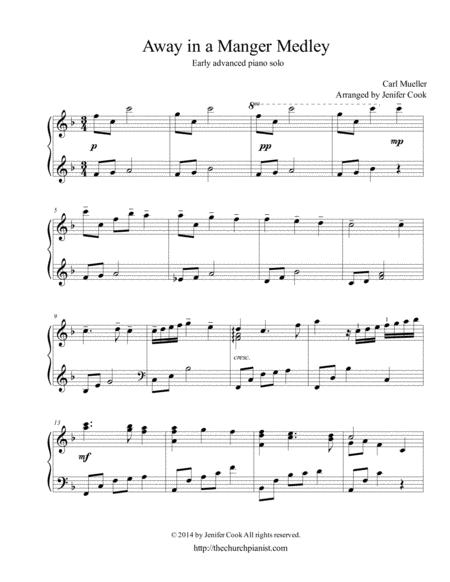 Download Away In A Manger Medley Sheet Music By Carl Mueller Sheet
