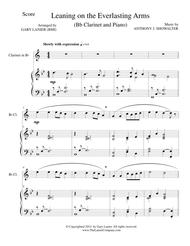 LEANING ON THE EVERLASTING ARMS (Bb Clarinet/Piano and ClarinetPart)