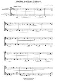 God Rest You Merry, Gentlemen (for trombone duet (treble clef), suitable for grades 1-5)