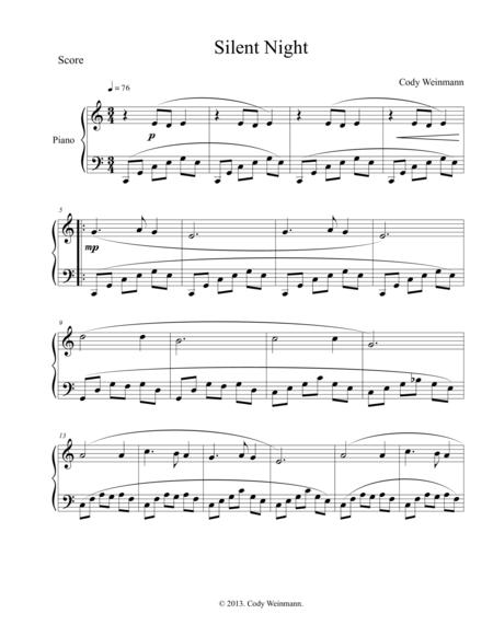 Silent Night for Easy Piano in C major