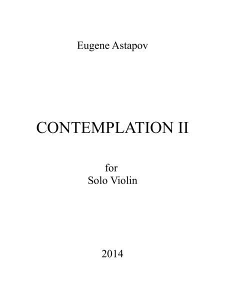 Contemplation II for solo violin
