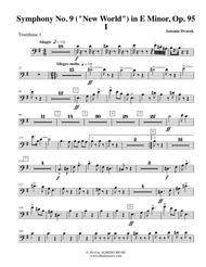 Dvorak Symphony No. 9, New World, Movement I - Trombone in Bass Clef 1 (Transposed Part), Op.95