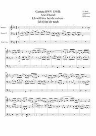 Arie-Choral: Ich will hier bei dir stehen - Ich folge dir nach - Aria-Chorale from Cantata BWV 159 (arrangement for organ)