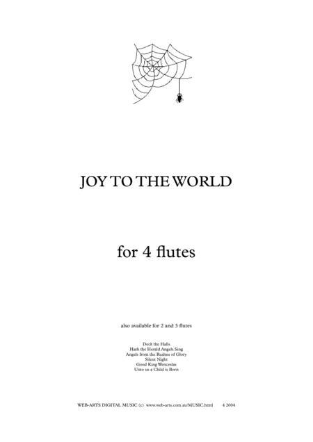 XMAS JOY TO THE WORLD for 4 flutes