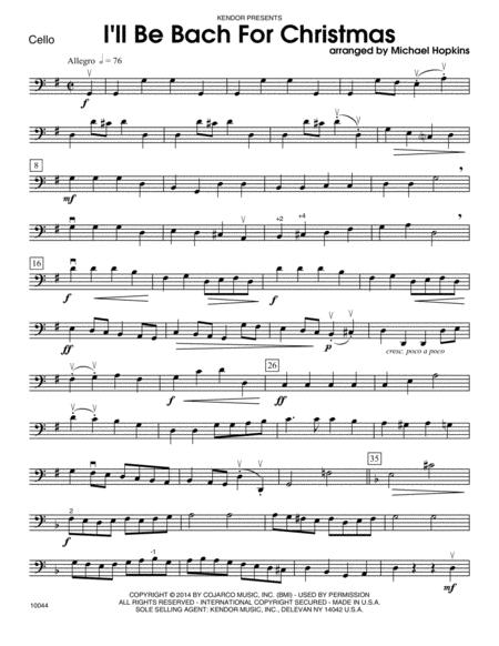 I'll Be Bach For Christmas - Cello