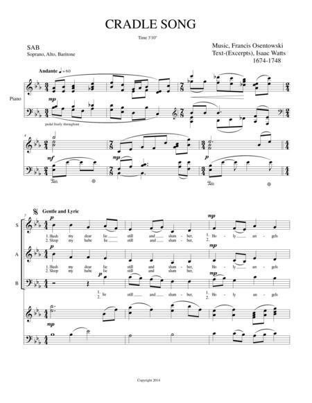 CRADLE SONG SAB