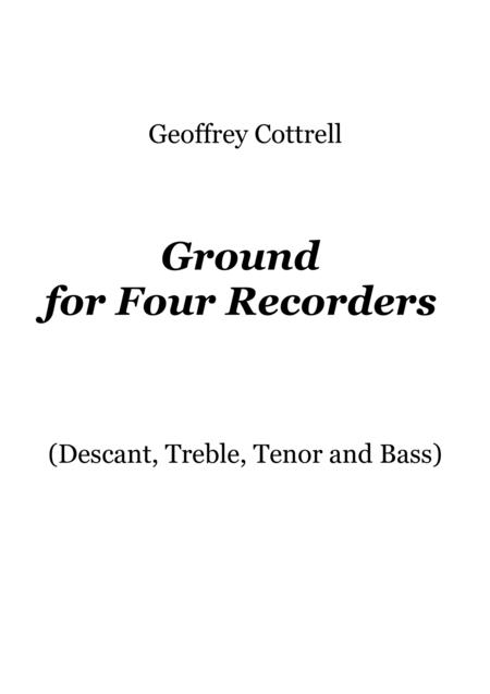 Ground for four recorders