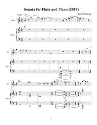 Sonata for Flute and Piano (2014), movement 1 full score and solo flute parts