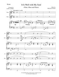 IT IS WELL WITH MY SOUL (Trio - Flute, Oboe and Piano with Parts)