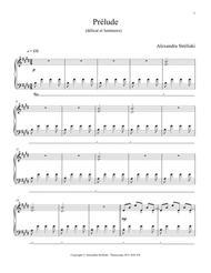 Download Prelude Sheet Music By Alexandra Streliski - Sheet Music Plus