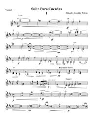 Suite for String Orchestra (Mov I) Violin I part