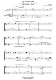 Joy to the World (for euphonium duet (bass clef, 3 or 4 valved), suitable for grades 1-6)