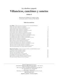 Villancicos, canciones y sonetos, vol. 4